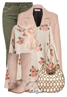 """Spring Floral Top"" by lv2create ❤ liked on Polyvore featuring Plein Sud Jeanius, Balenciaga, Frye and Forever 21"