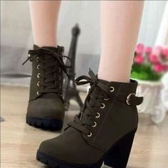"Fashion high-heeled boots Coupon code ""cutekawaii"" for 10% off"