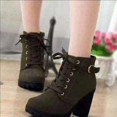"Fashion high-heeled boots Coupon code ""cutekawaii"" for 10% off"