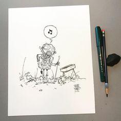 Boy. #dailysketch original available http://skottieyoungstore.bigcartel.com #ink #sketch