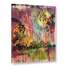 """Latitude Run Midnight Marsh Painting Print on Wrapped Canvas Size: 32"""" H x 24"""" W x 2"""" D"""