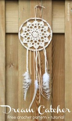 Dream Catcher. Free step-by-step crochet pattern with photo tutorial. via @haaknerd