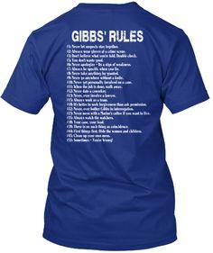 LTD.EDITION- NCIS  GIBBS' RULES