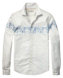 Sommerliches Voile-Shirt, einfarbig und gemustert