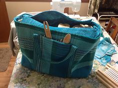 Hand woven bag for Rigid Heddle Loom.
