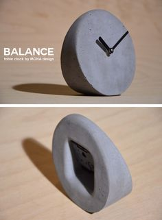 Balance concrete table clock