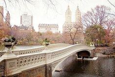 秋天的中央公園    紐約,中央公園,Bow Bridge