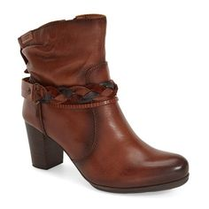 """PIKOLINOS 'Verona' Boot, 2 1/2"""" heel ($225) ❤ liked on Polyvore featuring shoes, boots, ankle booties, ankle boots, cuero leather, slouch boots, leather slouch boots, leather ankle booties and short slouch boots"""