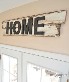 DIY Rustic Home Sign