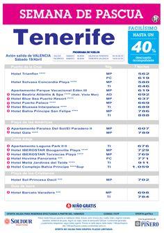 Tenerife, hasta 40% Dto.Acompañante, Semana de Pascua, salida 19 Abril desde Valencia ultimo minuto - http://zocotours.com/tenerife-hasta-40-dto-acompanante-semana-de-pascua-salida-19-abril-desde-valencia-ultimo-minuto/