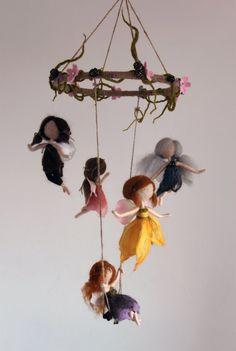 A Midsummer Night's Dream needle felted fairy by MavisSnapdragon