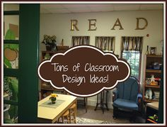 Kleinspiration: TONS of Classroom Design Ideas for Setting Up Your Cozy Learning Space! Lessons with laughter is my favorite Classroom Layout, Classroom Organisation, Classroom Setting, Teacher Organization, Classroom Design, Preschool Classroom, Future Classroom, Classroom Themes, Classroom Management
