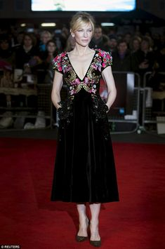 So glam: Cate Blanchett wowed in an embellished gown for the BFI London Film Festival premiere for her new movie, Truth on Saturday night