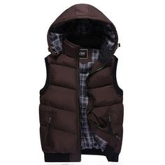 Brand Vest Winter New Men's Fashion Outerwear Leisure Casual Vest Coat Warm Sleeveless Jacket Men Military Waistcoat