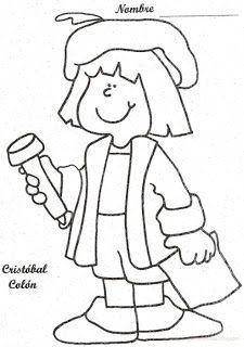 Dibujos de Cristobal Colon para Colorear  Ideas para el aula