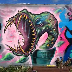 And here is My part of The Wall #pirahnaplant#anneberg#graffiti#monster#wall#mtn94#spray#göteborg