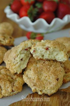 Simply Suzanne's AT HOME: strawberries & cream scones #ticklemytastebuds #apeekintomyparadise #recipe
