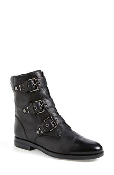 Geox 'Dayla 7' Leather Moto Boot (Women) available at #Nordstrom