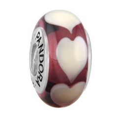 pandora murano purple heart charms - Google Search