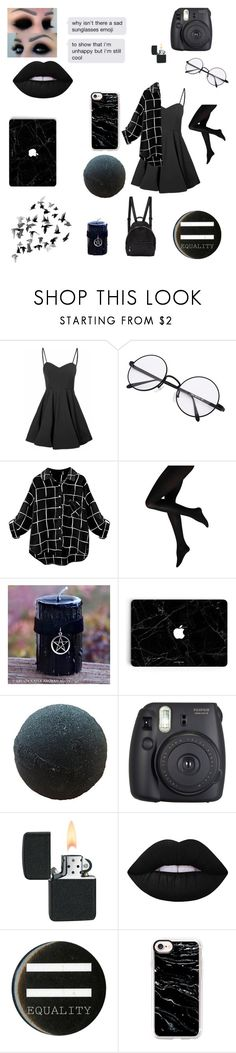 """""""Dark tumblr girl (I'm bad at titles)"""" by tumblr-pastel ❤ liked on Polyvore featuring Glamorous, Fuji, Lime Crime, Hot Topic, Casetify and STELLA McCARTNEY"""