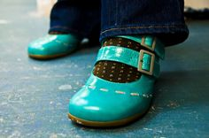 turquoise Fluvogs