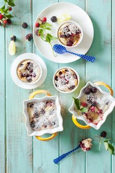 We're going to go ahead and call these individual-size blackberry and lime treats clafoutis cuties. (Warning: once you start, you can't stop.)