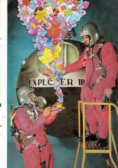 ben giles. psychadelic hipster collage art