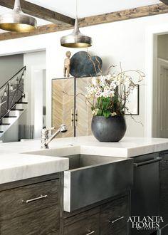 Wood and marble kitchen | Masterful Mix | Atlanta Homes & Lifestyles