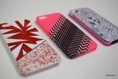 DIY personnaliser ses coques Iphones Vernis, masking tape, photos