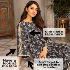 Pakistani Fashion Casual, Pakistani Dresses Casual, Pakistani Dress Design, Fancy Dress Design, Stylish Dress Designs, Sleeves Designs For Dresses, Dress Neck Designs, Stylish Dresses For Girls, Simple Dresses