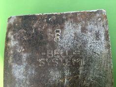 Bell System B46 single bit axe head weighs 3-1/2 lbs USA.