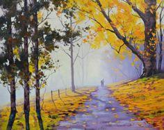 Pintura al óleo realista caída impresionismo por GerckenGallery