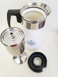 Vintage Corning Ware Coffee Percolator on Mercari Stovetop Coffee Percolator, Corningware Vintage, Pink Pyrex, Antique Items, Vintage Love, Kettle, Kitchen Ideas, Coffee Maker, Kitchen Appliances