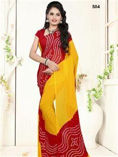 Buy Designer Printed Jaipuri Bandhej Sarees, Saari - Arrayna Fashion