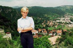 Princess Diana in Angola.