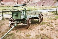 Old horse drawn wagon from the farm