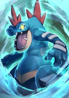 Fav Water Type - Feraligator by KoiDrake.deviantart.com on @DeviantArt