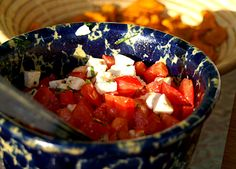 Cousin Jimmy& Italian Mozzarella Salad - Jimmy's salad recipe secret, is slow cooking the tomatoes for 2 hours. Click here for more healthy, delicious recipes from The Cave Woman. http://www.goingcavewoman.com/cousin-jimmys-mozzarella-salad #salad