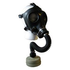 Israeli Military Gasmask Gas Mask Black Adult Army Mask Hose & Filter
