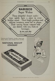 1911 Ad Nabisco Sugar Wafers National Biscuit Company - ORIGINAL OLD4