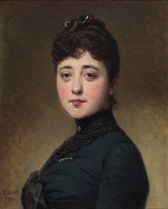 Don Federico de Madrazo y Kunz (Spanish, 1815-1894) - Mercedes de Madrazo y Rosales, 1887