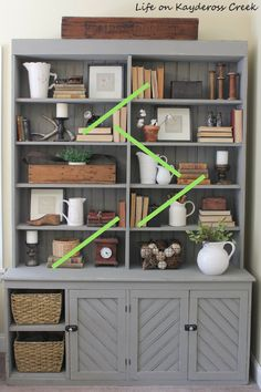 10 tips for decorating shelves like a pro - site lines - farmhouse - Life on Kay. 10 tips for decorating shelves like a pro – site lines – farmhouse – Life on Kaydeross Creek Source by Styling Bookshelves, Decorating Bookshelves, Bookcase Shelves, Office Bookshelves, Arranging Bookshelves, How To Decorate Bookshelves, Living Room Bookshelves, Organizing Bookshelves, Living Room Hutch