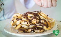 Pfannkuchen Banane-Schoko, low carb Diät rezept