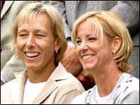 Chris Evert & Martina Navratilova