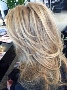 Long layers My New Hair Style Long Layered Haircuts, Haircuts For Long Hair, Long Hair Cuts, Blonde Layered Hair, Blonde Hair, Medium Hair Styles, Short Hair Styles, Hair Color And Cut, Hair Color Highlights