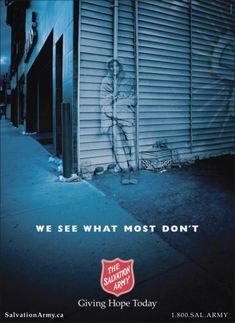 "Homeless Awareness: ""ALLEYWAY"" Outdoor Advert  by Aclc"