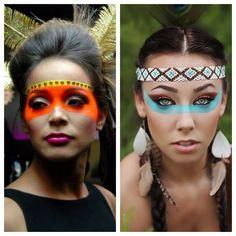Precisando de inspiração para criar sua maquiagem de Carnaval? Das mais simples às mais criativas, escolha sua favorita para cair na folia! Easy Costumes, Carnival Costumes, Fx Makeup, Hair Makeup, Make Carnaval, Halloween Costumes, Halloween Face Makeup, Hippie Lifestyle, Costume Makeup