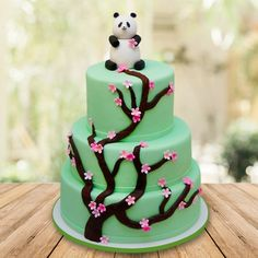 Contains : 3 Tier Panda Fondant cake Bolo Fondant, Bolo Panda, Panda Cakes, Your Surprise, Box Cake, Truffles, Bouquet, Birthday Cake, Cupcakes