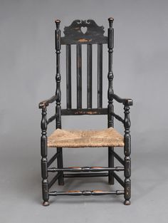 Heart and Crown Armchair coastal Connecticut circa 1740 selling September 22nd www.fairfieldauction.com
