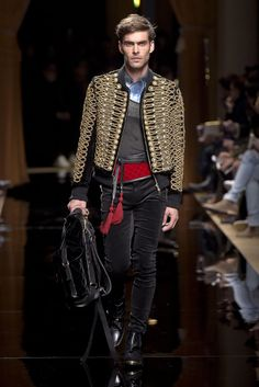 Balmain Men's Fall 2016 [Photo: Giovanni Gionnoni]